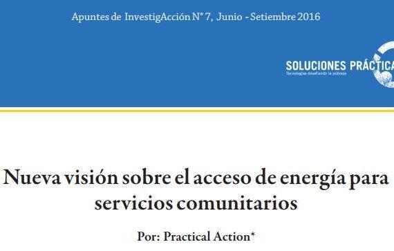 Nueva visión sobre el acceso de energía para servicios comunitarios
