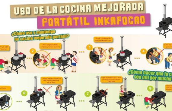 Uso de la cocina mejorada portatil INKAFOGOA